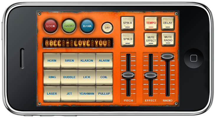 dub siren reggae iPhone DJ app Lnadscape mode